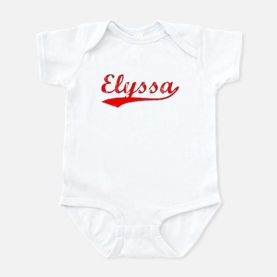 Vintage Elyssa (Red) Infant Bodysuit