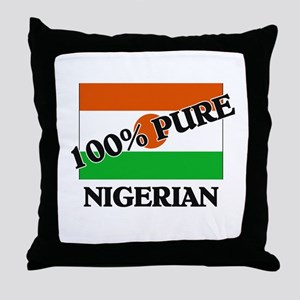 100 Percent NIGERIAN Throw Pillow
