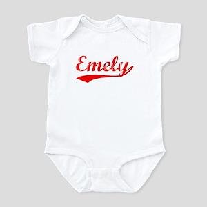 Vintage Emely (Red) Infant Bodysuit