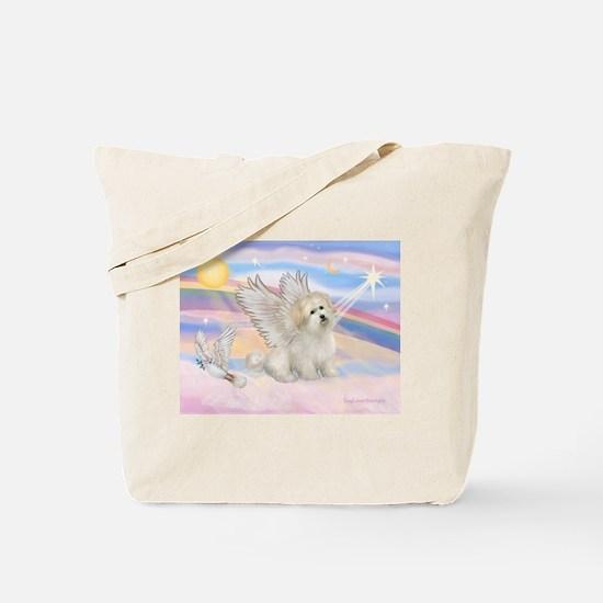 ANGEL IN CLOUDS /Coton de Tulear Tote Bag