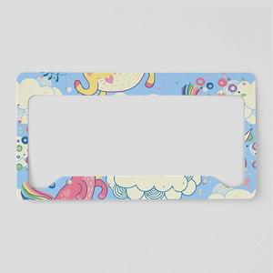 Rainbow Unicorns License Plate Holder