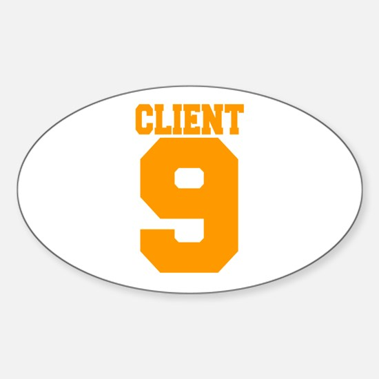 Client 9 Oval Decal