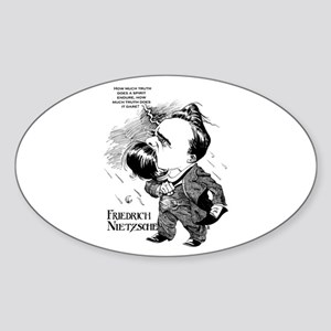 Nietzsche Oval Sticker