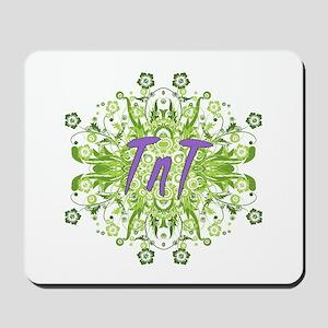 TnT Green Flowers Mousepad