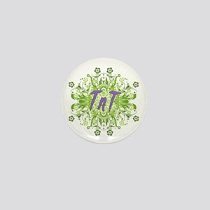 TnT Green Flowers Mini Button