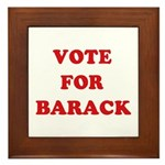 Vote for Barack Framed Tile