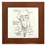 Bertrand Russell Framed Tile