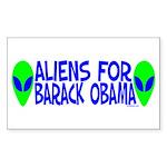 Aliens For Barack Obama Rectangle Sticker 50 pk)