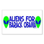 Aliens For Barack Obama Rectangle Sticker 10 pk)