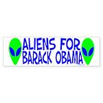 Aliens For Barack Obama Bumper Sticker (10 pk)
