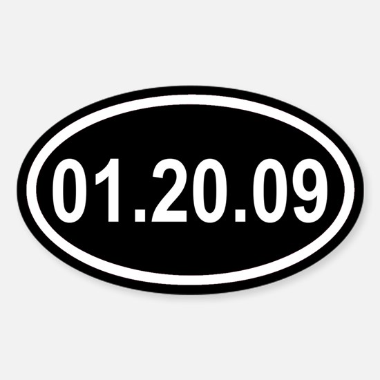 01.20.09 Bush's Last Day Euro Oval Decal