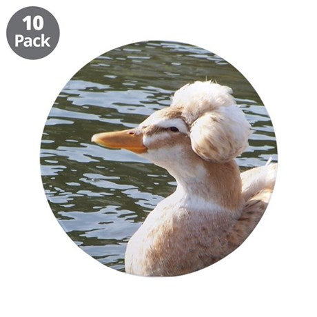 "Crested Duck 3.5"" Button (10 pack)"