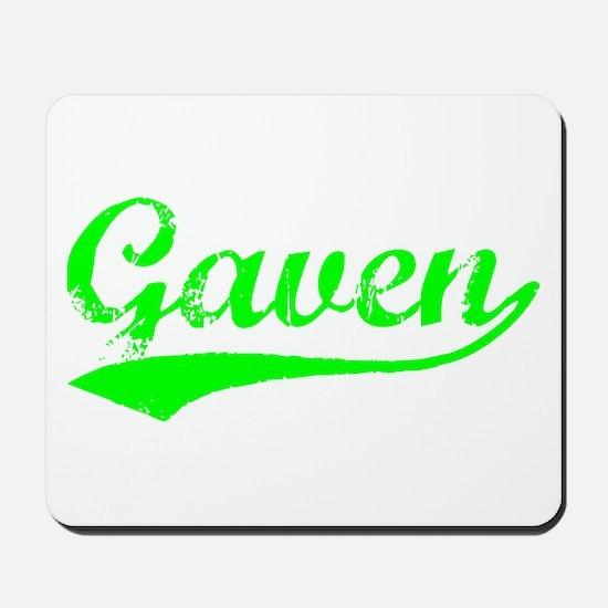 Vintage Gaven (Green) Mousepad