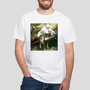 NURSE WITH SOLDIER & DOG White T-Shirt