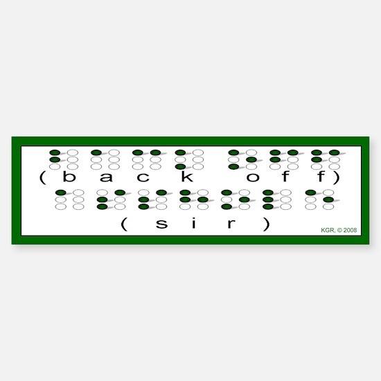Braille Bumper Bumper Bumper Sticker