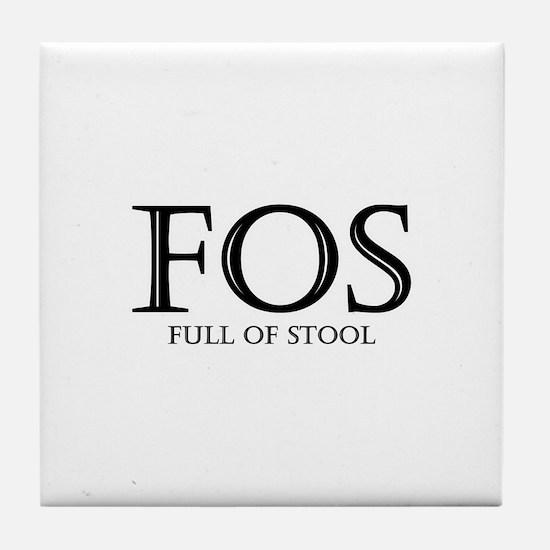 Full of Stool Tile Coaster