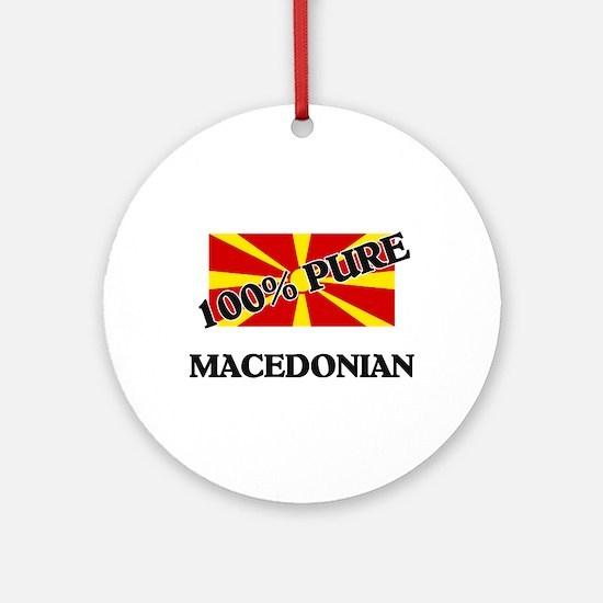 100 Percent MACEDONIAN Ornament (Round)