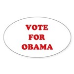 Vote for Obama Oval Sticker (50 pk)