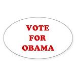 Vote for Obama Oval Sticker (10 pk)