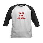 Vote for Obama Kids Baseball Jersey