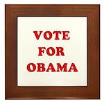Vote for Obama Framed Tile