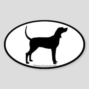 Coonhound #2 Oval Oval Sticker