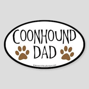 Coonhound Dad Oval (black border) Oval Sticker