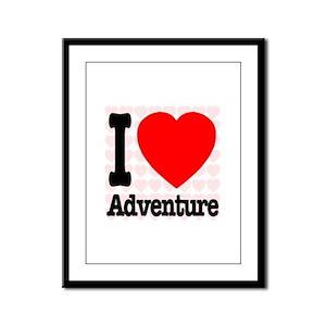 I Love Adventure Framed Panel Print