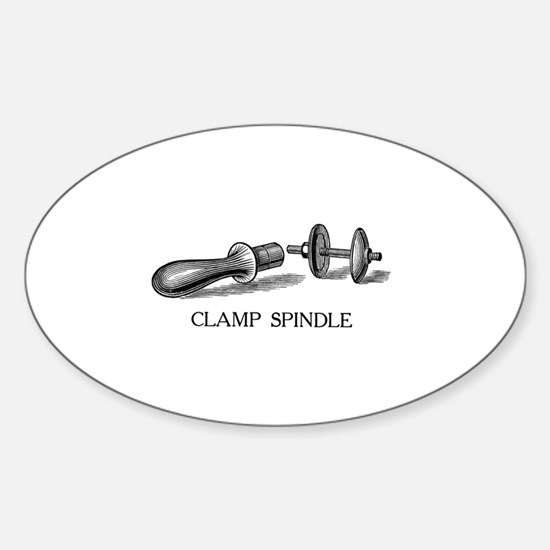 Clamp Spindle Oval Decal