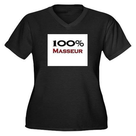 100 Percent Masseur Women's Plus Size V-Neck Dark