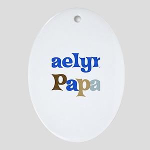 Kaelyn's Papa Oval Ornament