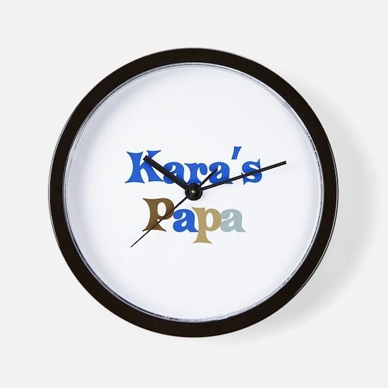 Kara's Papa Wall Clock