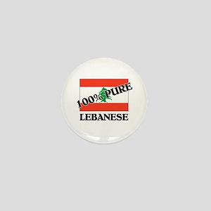 100 Percent LEBANESE Mini Button