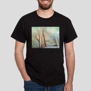 Winter Landscape Dark T-Shirt