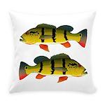 Peacock bass Everyday Pillow