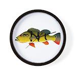 Peacock bass Wall Clock