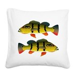 Peacock bass Square Canvas Pillow