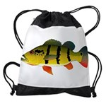 Peacock bass Drawstring Bag