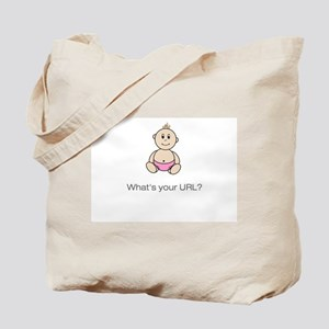 """""""What's your URL?"""" Tote Bag - pink"""