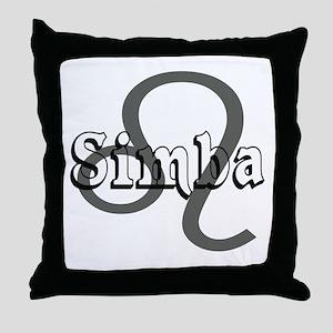 Simba~Leo Throw Pillow