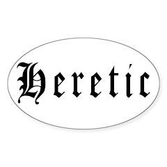 Heretic Oval Sticker (10 pk)
