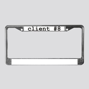 Client #8 License Plate Frame