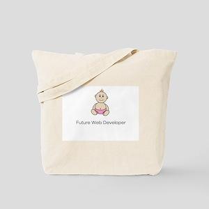 """Future Web Developer"" Tote Bag - pink"