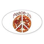 Peace-za Oval Sticker