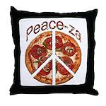 Peace-za Throw Pillow