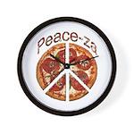 Peace-za Wall Clock