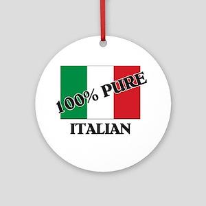 100 Percent ITALIAN Ornament (Round)