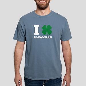 I Shamrock Love Savannah Clover St Patrick T-Shirt