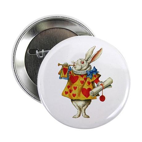 """WONDERLAND RABBIT 2.25"""" Button (100 pack)"""