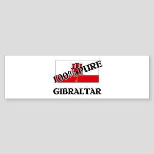 100 Percent GIBRALTAR Bumper Sticker